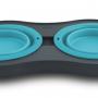 Popware Double Elevated Feeder, blauw